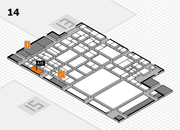 glasstec 2016 Hallenplan (Halle 14): Stand A15