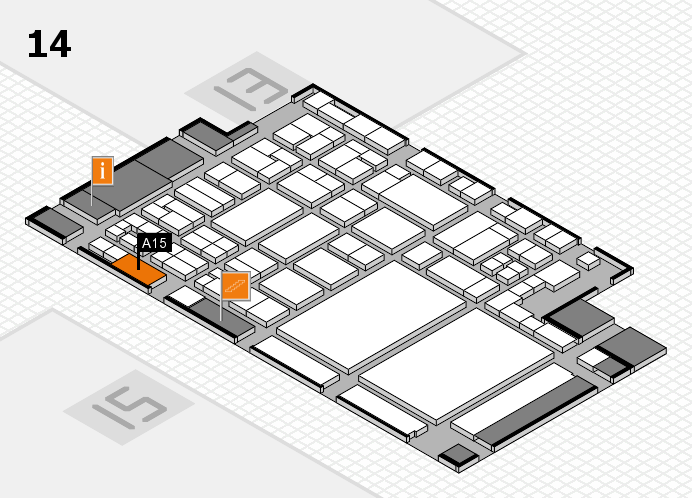 glasstec 2016 hall map (Hall 14): stand A15
