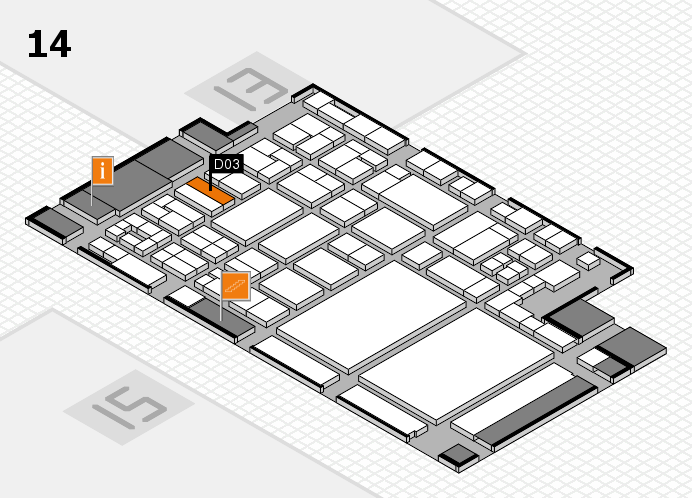glasstec 2016 hall map (Hall 14): stand D03