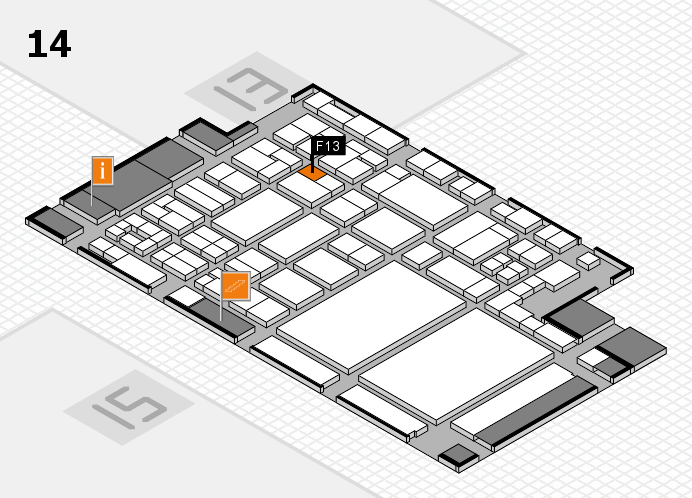 glasstec 2016 hall map (Hall 14): stand F13
