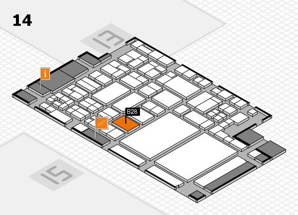 glasstec 2016 hall map (Hall 14): stand B28