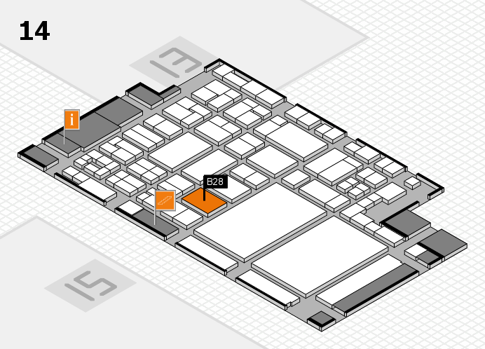 glasstec 2016 Hallenplan (Halle 14): Stand B28