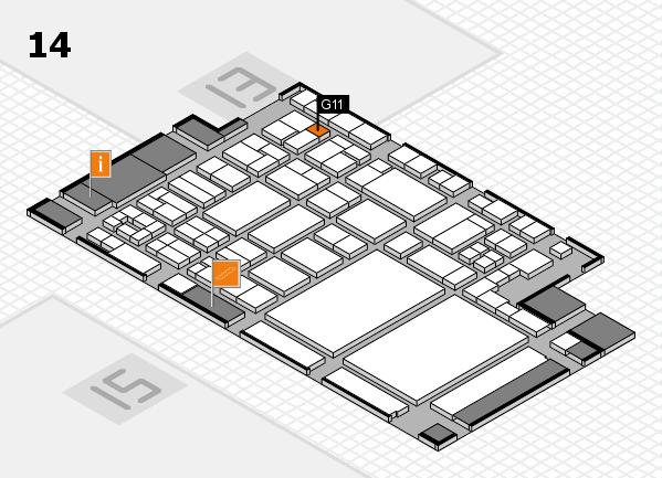 glasstec 2016 hall map (Hall 14): stand G11