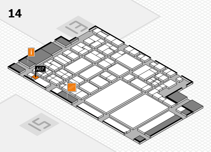 glasstec 2016 hall map (Hall 14): stand A07