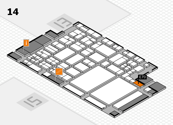 glasstec 2016 hall map (Hall 14): stand E70