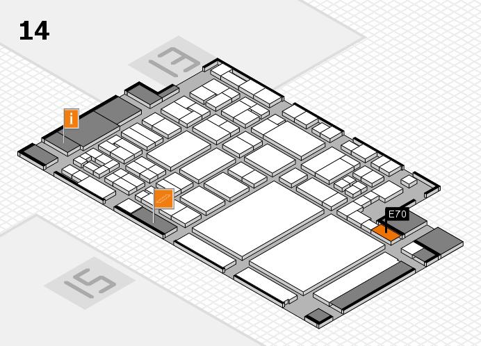 glasstec 2016 Hallenplan (Halle 14): Stand E70