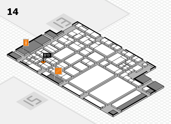 glasstec 2016 hall map (Hall 14): stand B13