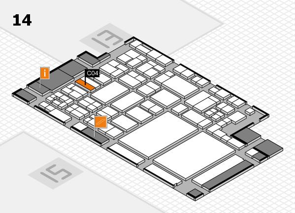 glasstec 2016 hall map (Hall 14): stand C04