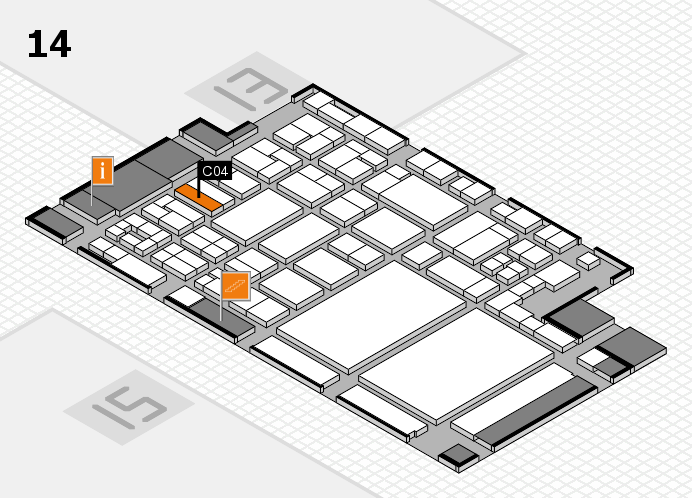 glasstec 2016 hall map (Hall 14): stand C04