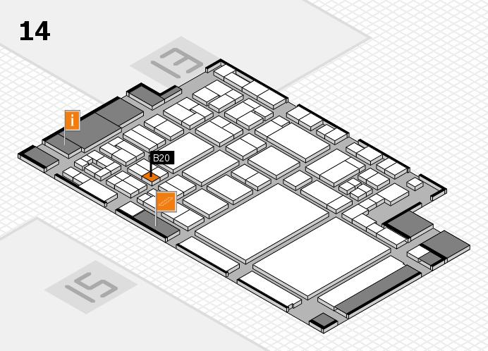 glasstec 2016 Hallenplan (Halle 14): Stand B20