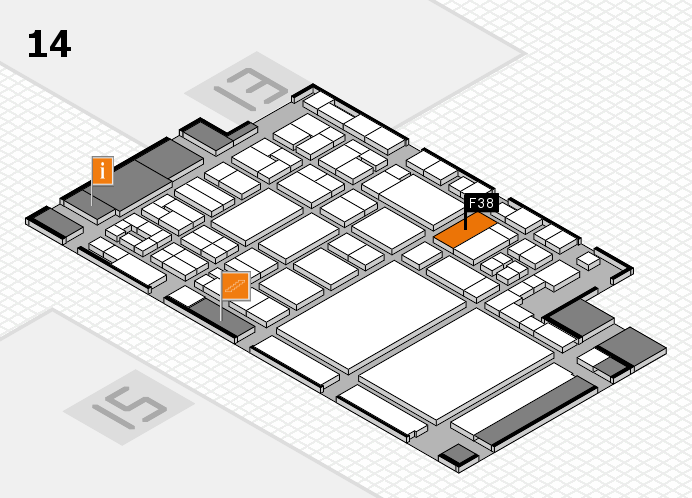 glasstec 2016 Hallenplan (Halle 14): Stand F38
