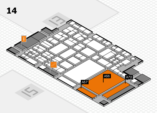glasstec 2016 Hallenplan (Halle 14): Stand A56, Stand A72