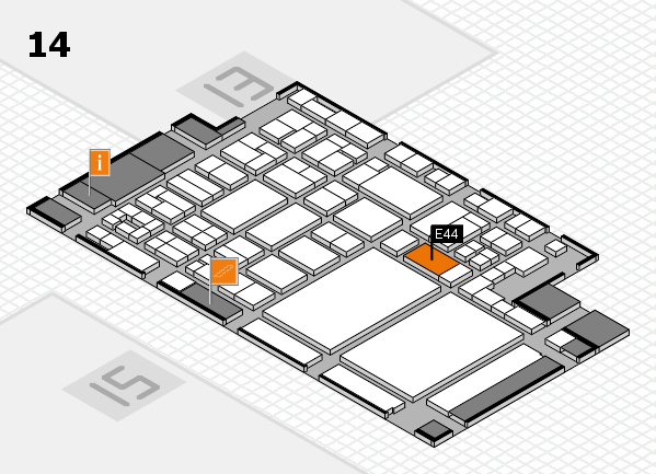glasstec 2016 hall map (Hall 14): stand E44