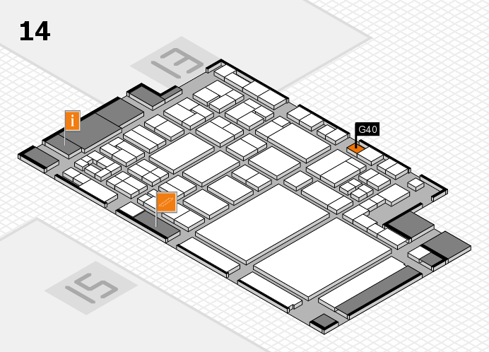 glasstec 2016 hall map (Hall 14): stand G40