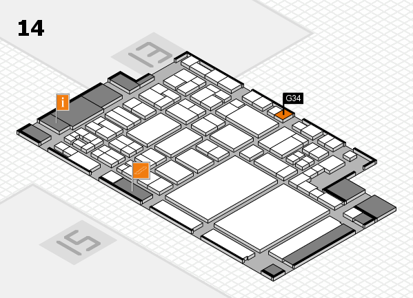 glasstec 2016 hall map (Hall 14): stand G34
