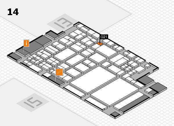 glasstec 2016 Hallenplan (Halle 14): Stand G21