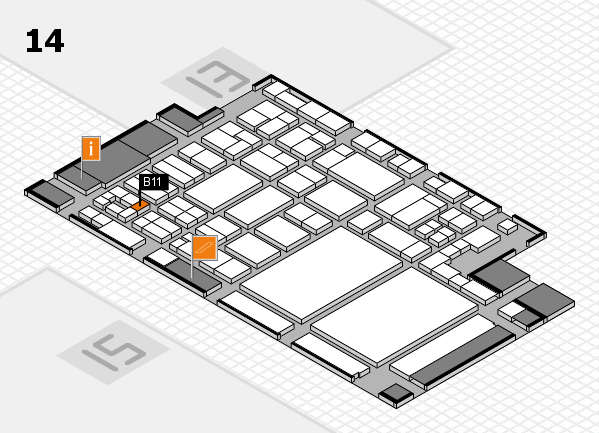 glasstec 2016 hall map (Hall 14): stand B11