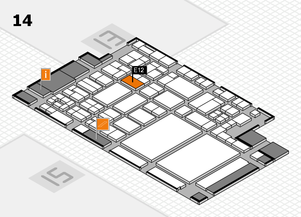 glasstec 2016 hall map (Hall 14): stand E12