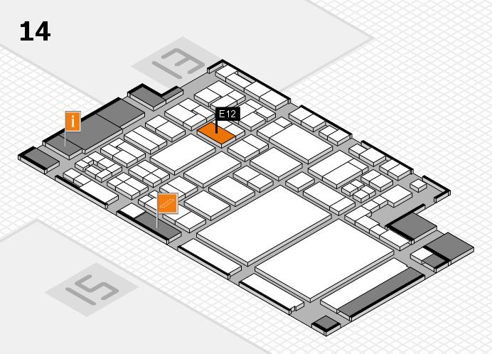glasstec 2016 Hallenplan (Halle 14): Stand E12
