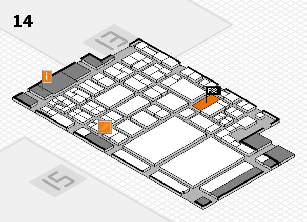 glasstec 2016 hall map (Hall 14): stand F38
