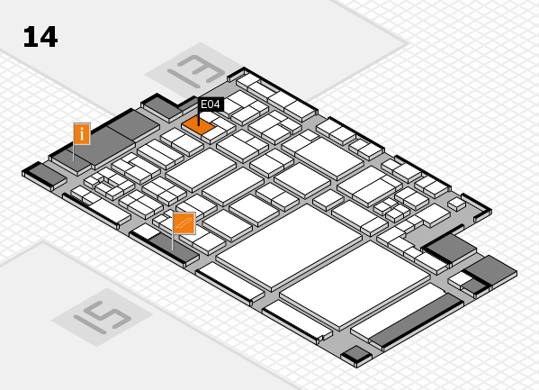 glasstec 2016 Hallenplan (Halle 14): Stand E04