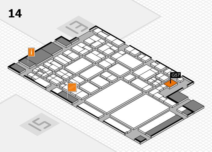 glasstec 2016 hall map (Hall 14): stand G57