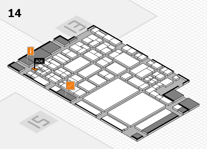 glasstec 2016 hall map (Hall 14): stand A04