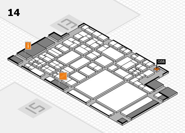 glasstec 2016 hall map (Hall 14): stand G58