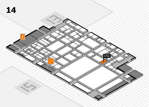 glasstec 2016 hall map (Hall 14): stand E52