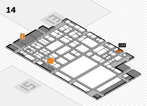 glasstec 2016 Hallenplan (Halle 14): Stand G52