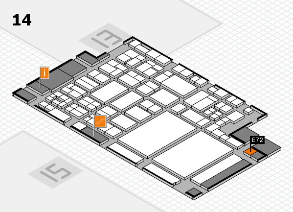 glasstec 2016 hall map (Hall 14): stand E72