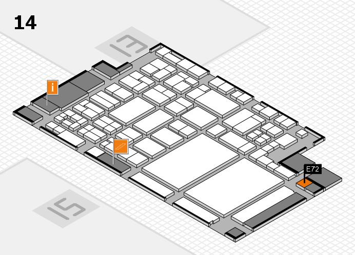 glasstec 2016 Hallenplan (Halle 14): Stand E72