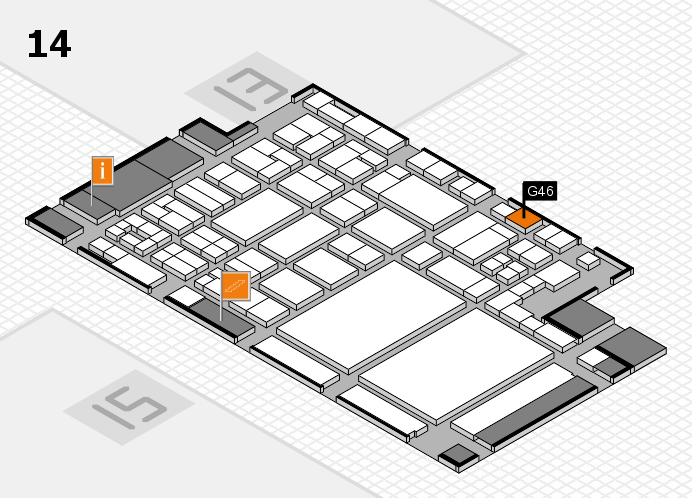glasstec 2016 hall map (Hall 14): stand G46
