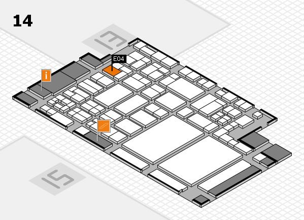 glasstec 2016 hall map (Hall 14): stand E04