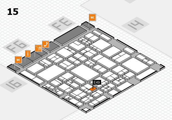glasstec 2016 hall map (Hall 15): stand E49