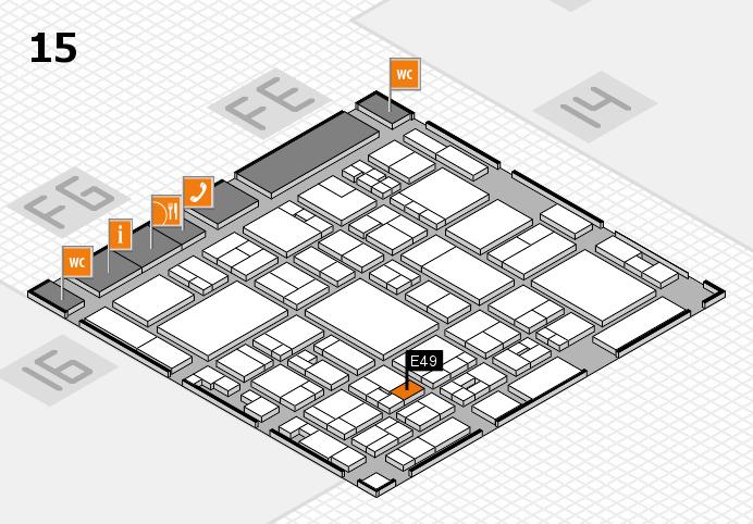 glasstec 2016 hall map (Hall 15): stand E49