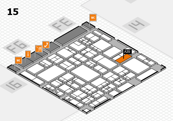 glasstec 2016 hall map (Hall 15): stand A39