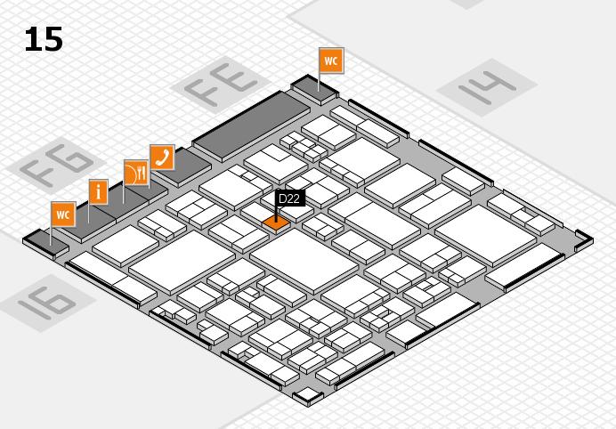 glasstec 2016 Hallenplan (Halle 15): Stand D22