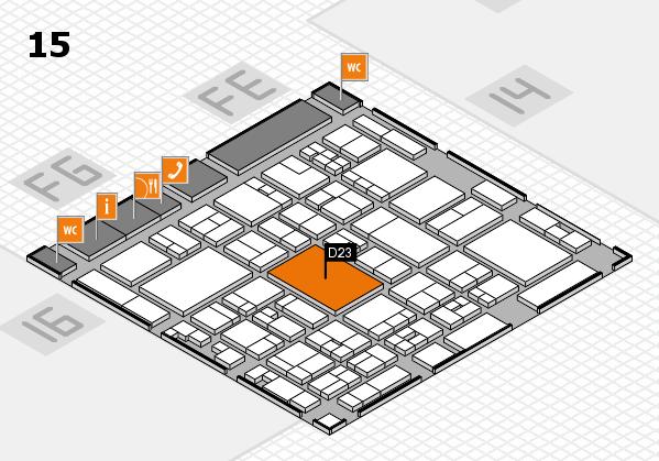 glasstec 2016 hall map (Hall 15): stand D23