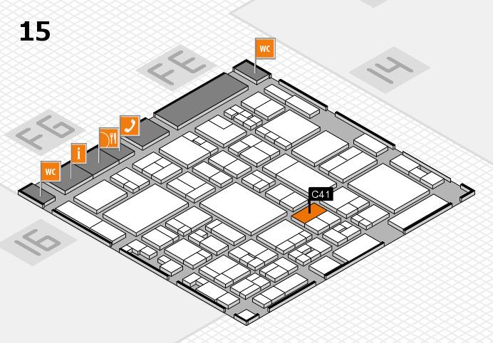 glasstec 2016 hall map (Hall 15): stand C41