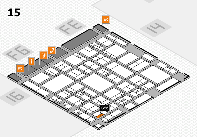 glasstec 2016 hall map (Hall 15): stand G56