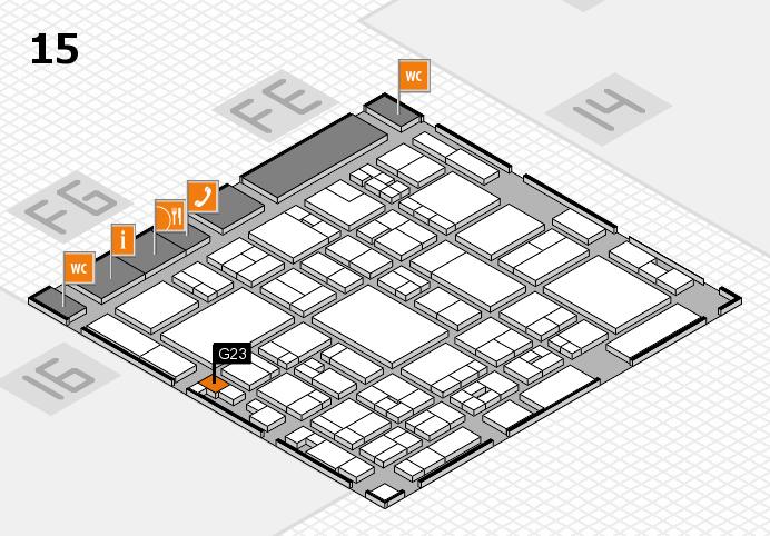 glasstec 2016 hall map (Hall 15): stand G23
