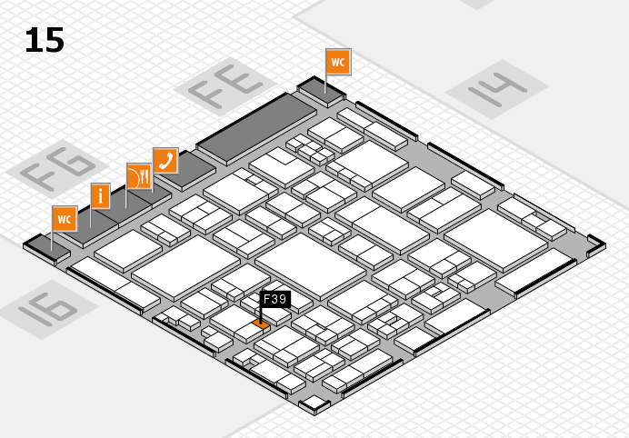 glasstec 2016 hall map (Hall 15): stand F39