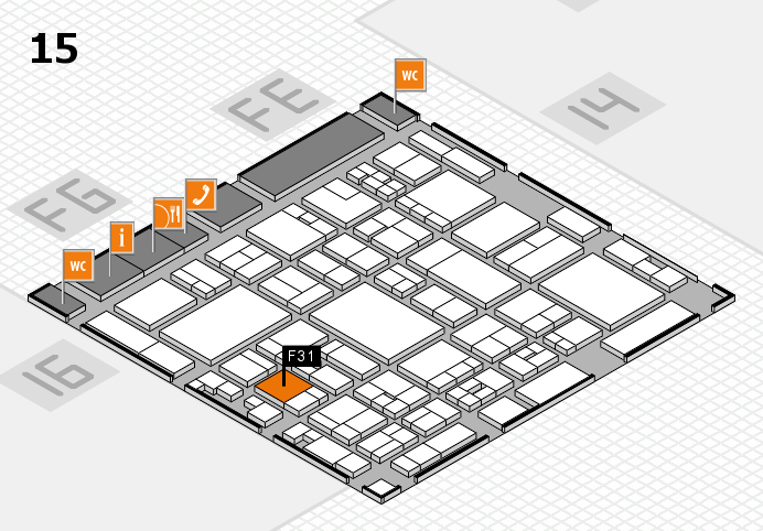 glasstec 2016 hall map (Hall 15): stand F31
