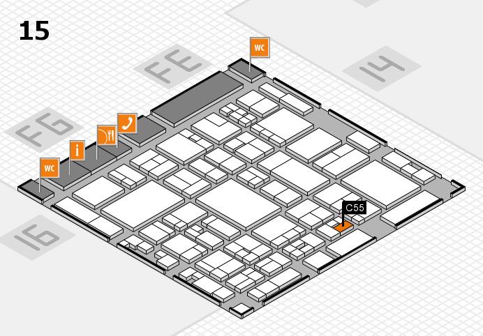 glasstec 2016 hall map (Hall 15): stand C55