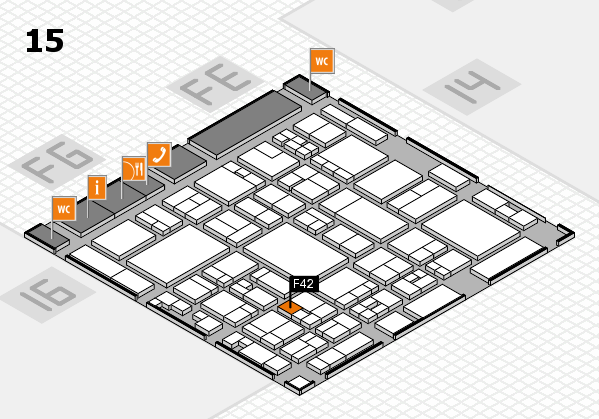 glasstec 2016 hall map (Hall 15): stand F42