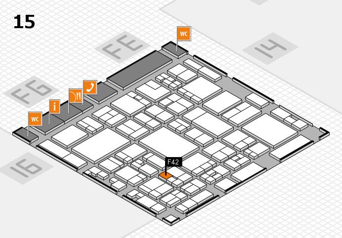 glasstec 2016 Hallenplan (Halle 15): Stand F42