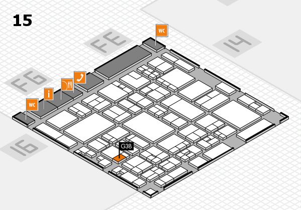 glasstec 2016 hall map (Hall 15): stand G38