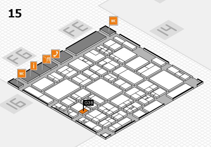 glasstec 2016 hall map (Hall 15): stand G38