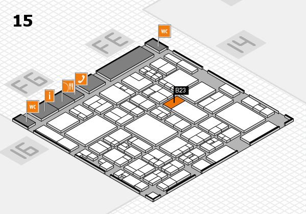 glasstec 2016 Hallenplan (Halle 15): Stand B23